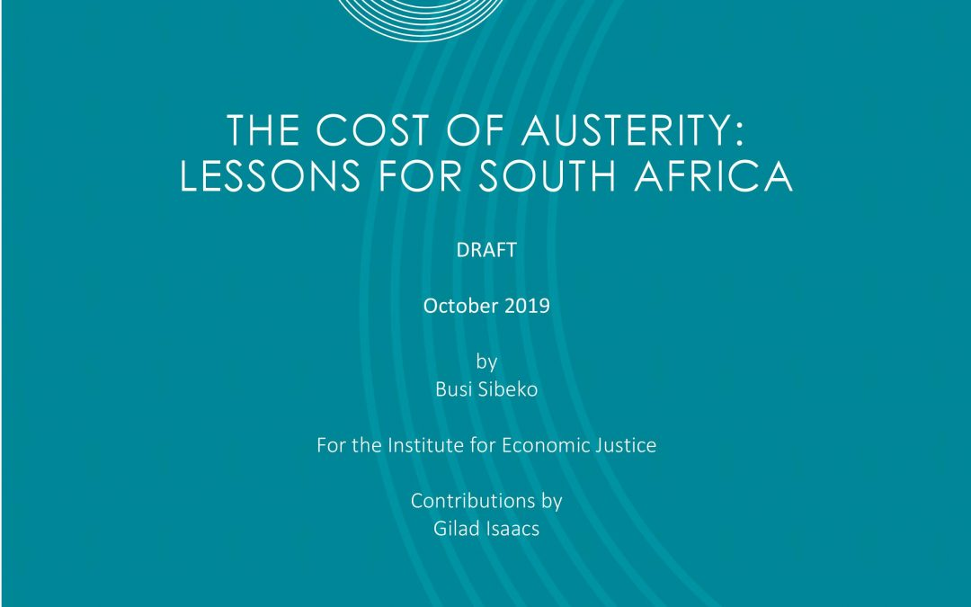 The cost of austerity: Lessons for South Africa