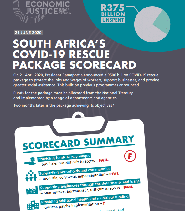South Africa's Covid-19 Rescue Package Scorecard