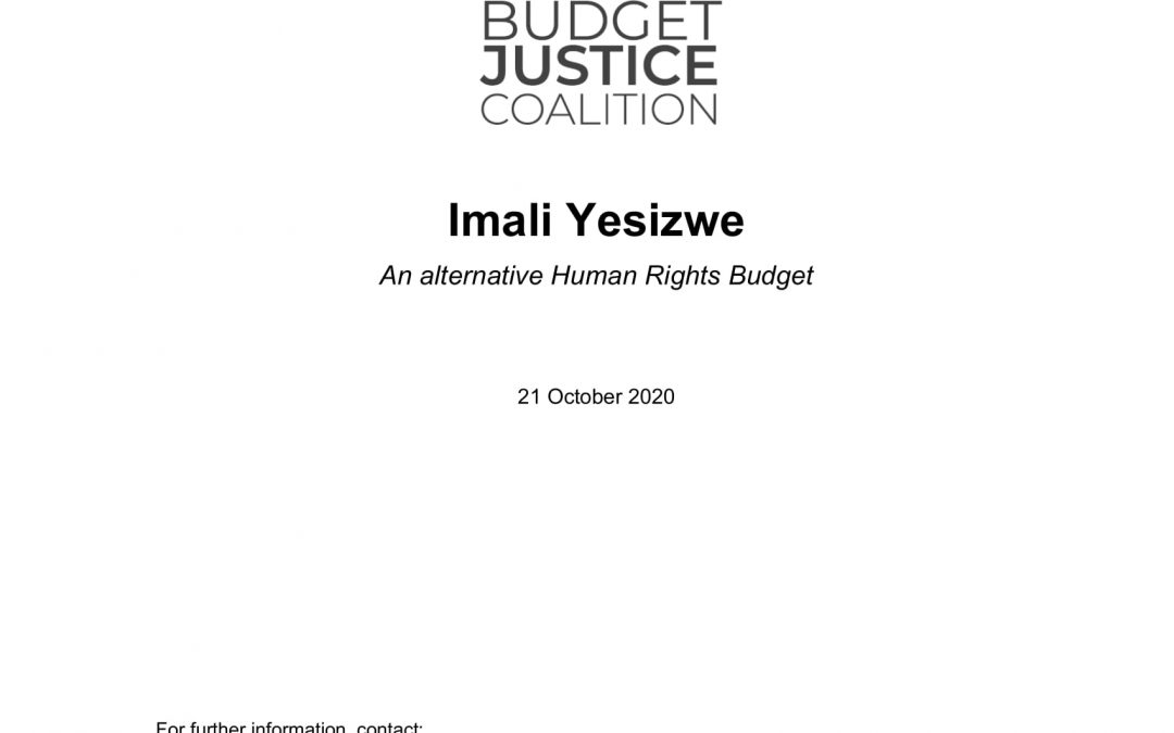 Budget Justice Coalition – Imali Yesizwe: An Alternative Human Rights Budget